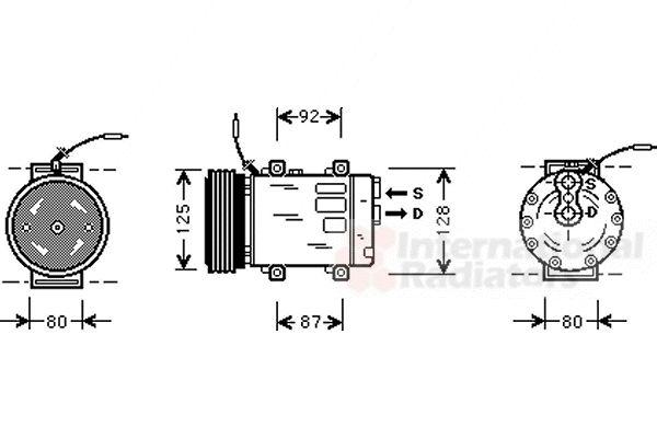 Compresseur, climatisation - VAN WEZEL - 4300K067