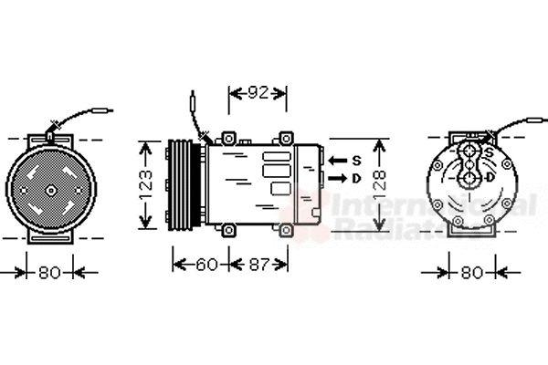Compresseur, climatisation - VAN WEZEL - 4300K075