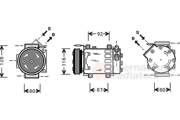 Compresseur, climatisation - VAN WEZEL - 4300K079