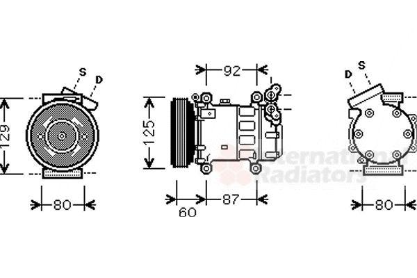 Compresseur, climatisation - VAN WEZEL - 4300K080