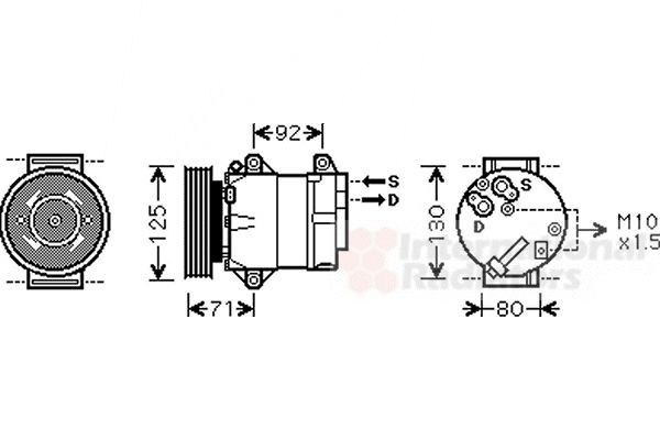 Compresseur, climatisation - VAN WEZEL - 4300K103