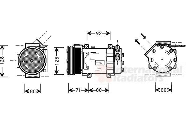 Compresseur, climatisation - VAN WEZEL - 4300K127