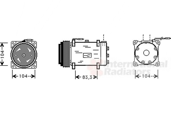 Compresseur, climatisation - VAN WEZEL - 4300K242