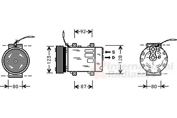 Compresseur, climatisation - VAN WEZEL - 4300K243