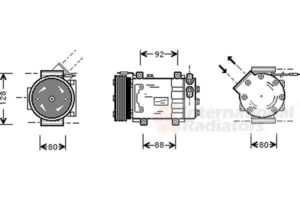 Compresseur, climatisation - VWA - 88VWA4300K255