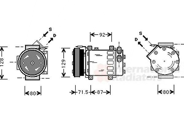 Compresseur, climatisation - VAN WEZEL - 4300K281