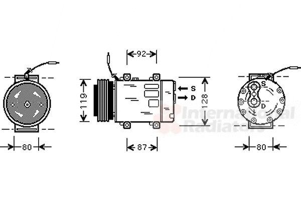 Compresseur, climatisation - VAN WEZEL - 4300K283