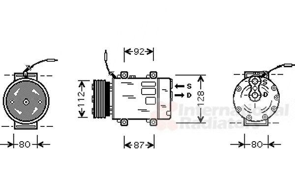 Compresseur, climatisation - VAN WEZEL - 4300K286