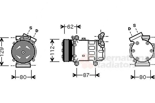Compresseur, climatisation - VAN WEZEL - 4300K331
