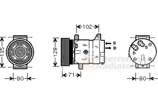Compresseur, climatisation - VAN WEZEL - 4300K367