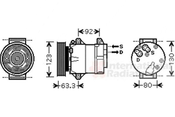 Compresseur, climatisation - VAN WEZEL - 4300K369