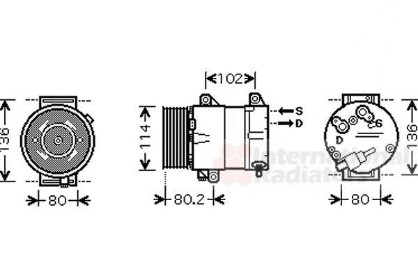 Compresseur, climatisation - VAN WEZEL - 4300K383