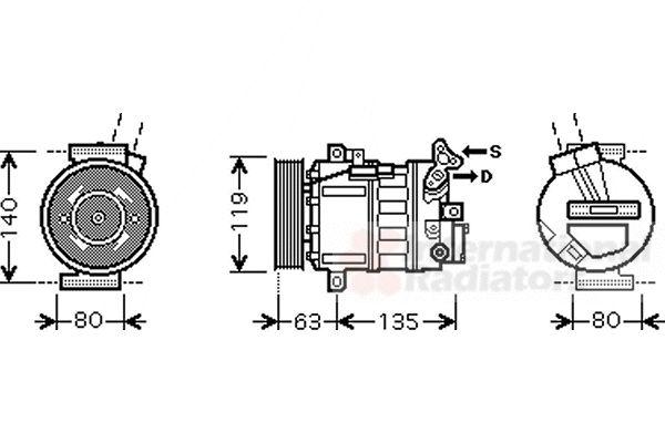 Compresseur, climatisation - VAN WEZEL - 4300K389