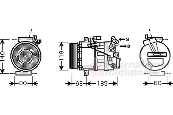 Compresseur, climatisation - VAN WEZEL - 4300K392