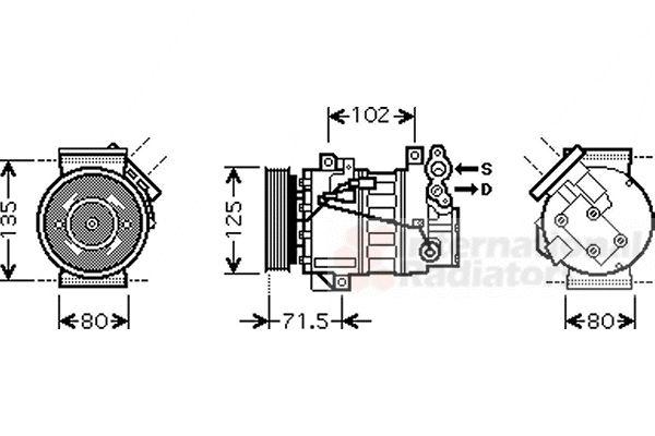Compresseur, climatisation - VAN WEZEL - 4300K393