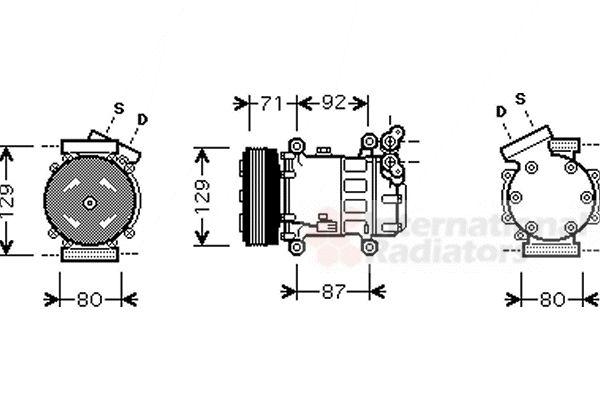 Compresseur, climatisation - VAN WEZEL - 4300K401