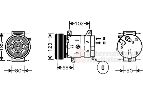 Compresseur, climatisation - VAN WEZEL - 4300K404
