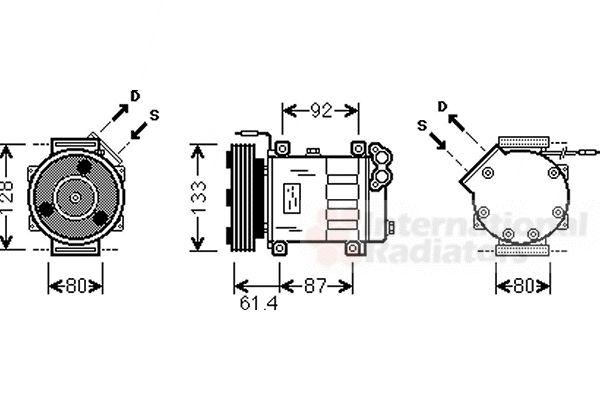 Compresseur, climatisation - VAN WEZEL - 4300K424
