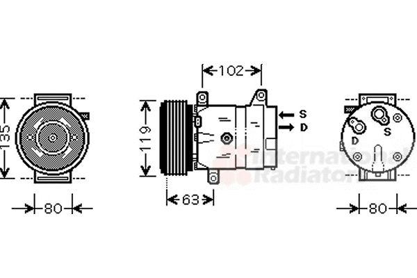 Compresseur, climatisation - VAN WEZEL - 4300K440