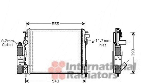 Radiateur, refroidissement du moteur - VAN WEZEL - 4300M323