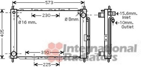 Radiateur, refroidissement du moteur - VAN WEZEL - 4300M405