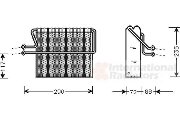 Evaporateur climatisation - VAN WEZEL - 4300V004