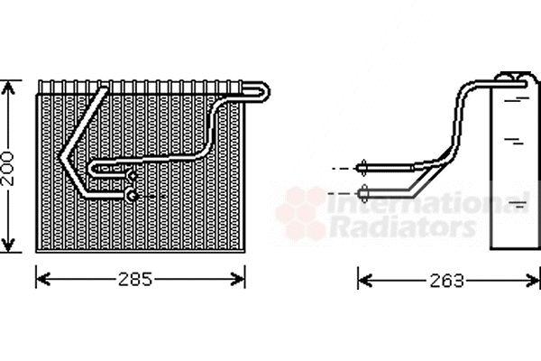 Evaporateur climatisation - VAN WEZEL - 4300V100