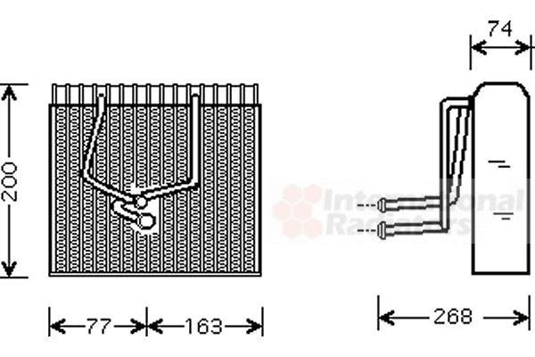 Evaporateur climatisation - VAN WEZEL - 4300V173