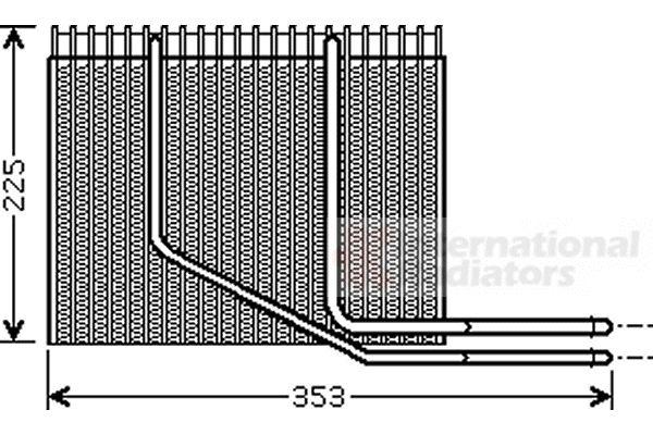 Evaporateur climatisation - VAN WEZEL - 4300V353
