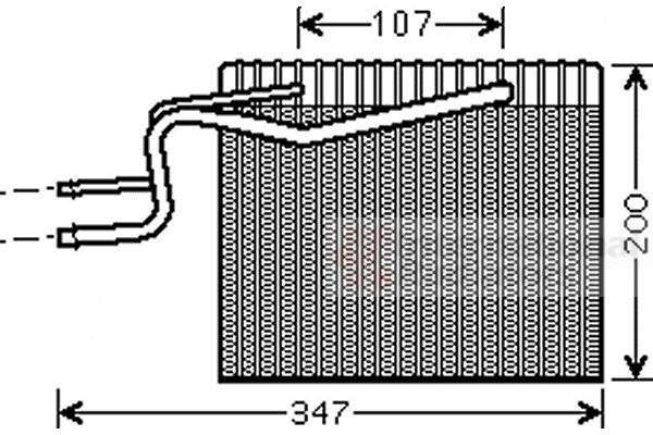 Evaporateur climatisation - VAN WEZEL - 4300V365