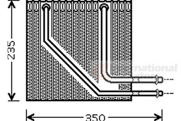 Evaporateur climatisation - VAN WEZEL - 4300V407