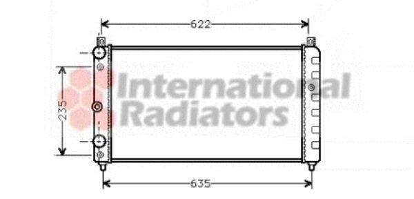 Radiateur, refroidissement du moteur - VAN WEZEL - 76002003