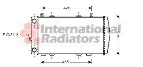 Radiateur, refroidissement du moteur - VAN WEZEL - 76002004