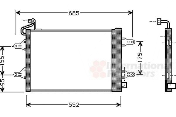 Condenseur, climatisation - VAN WEZEL - 76005007