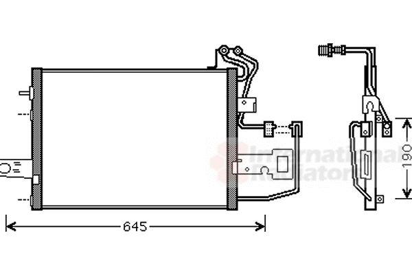 Condenseur, climatisation - VAN WEZEL - 76005015
