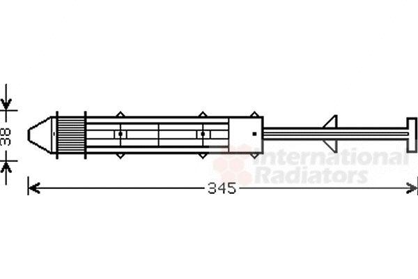 Filtre déshydratant, climatisation - VAN WEZEL - 7600D012
