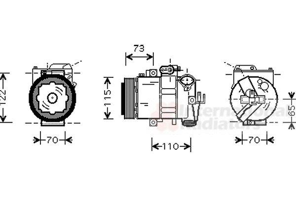 Compresseur, climatisation - VWA - 88VWA7600K018