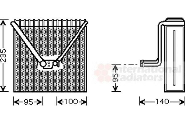 Evaporateur climatisation - VAN WEZEL - 7600V011