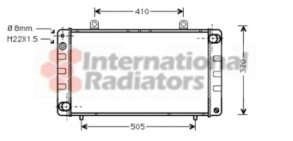 Radiateur, refroidissement du moteur - VAN WEZEL - 47002002