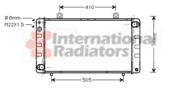 Radiateur, refroidissement du moteur - VAN WEZEL - 47002003