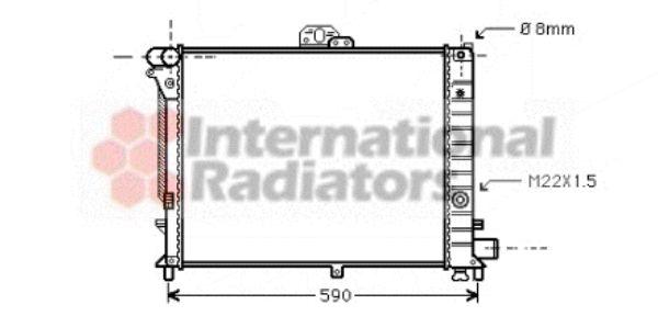 Radiateur, refroidissement du moteur - VAN WEZEL - 47002005
