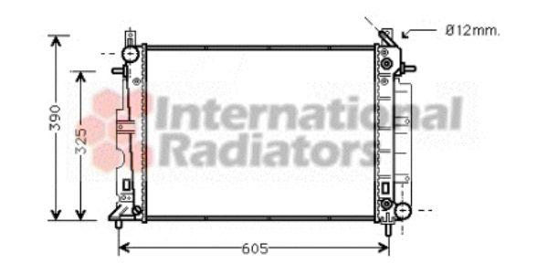 Radiateur, refroidissement du moteur - VAN WEZEL - 47002008