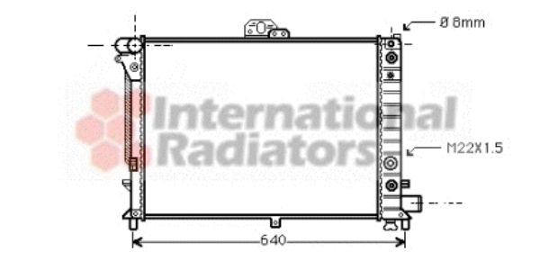 Radiateur, refroidissement du moteur - VAN WEZEL - 47002011