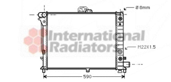 Radiateur, refroidissement du moteur - VAN WEZEL - 47002012