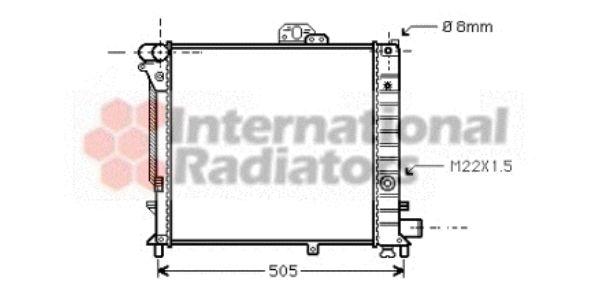 Radiateur, refroidissement du moteur - VAN WEZEL - 47002019