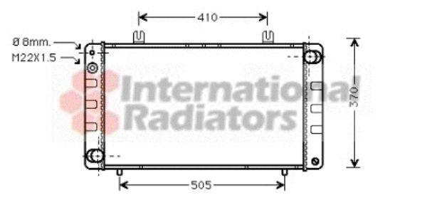 Radiateur, refroidissement du moteur - VAN WEZEL - 47002020