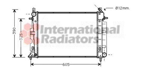 Radiateur, refroidissement du moteur - VAN WEZEL - 47002026