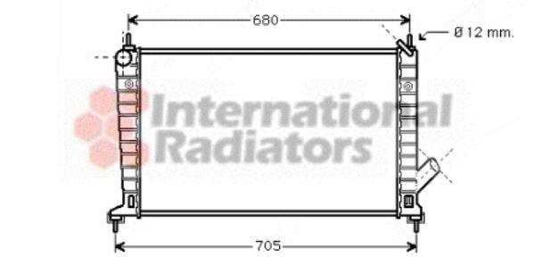 Radiateur, refroidissement du moteur - VAN WEZEL - 47002035
