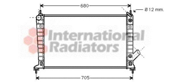 Radiateur, refroidissement du moteur - VAN WEZEL - 47002036