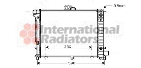 Radiateur, refroidissement du moteur - VAN WEZEL - 47002050